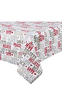 FESTIVE 100% COTTON 135X230CM TABLECLOTH Jaba, Love, The 100, Decorative Boxes, Festive, Cotton, Amor, Decorative Storage Boxes