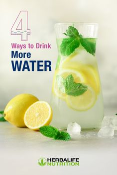 Water is needed for the proper function of every cell and organ in our body. Keep hydrated with these tips.  #HerbalifeNutrition #Water #Hydration   Nutrition And Dietetics, Nutrition Education, Healthy Meal Replacement Shakes, Health Meals, Herbalife Nutrition, Drink More Water, Body Organs, Food Science, Cream And Sugar