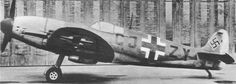 A captured Spitfire Vb fitted with a German DB 605A-1 Daimler-Benz engine. It was used for testing at Echterdingen, where Daimler-Benz operated a flight testing division.