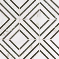 Calacatta Labrinto Porcelain Mosaic - 12 x 12 - 100465350 | Floor and Decor