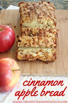 Apple Cinnamon Bread One of the most popular recipes out there-this amazing cinnamon apple bread recipe is the perfect fall dessert! (And makes your house smell amazing! Fall Desserts, Just Desserts, Delicious Desserts, Dessert Recipes, Yummy Food, Apple Desserts, Delicious Dishes, Health Desserts, Cookie Recipes