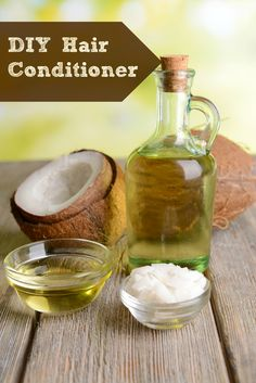 DIY Hair Conditioner or homemade leave-in conditioner using pantry items you have at home. (Also, a recipe for detangler, shampoo, and more!)