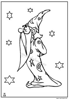 Wizard Witch Magic Color Page Fantasy Medieval Coloring Pages Plate Sheetprintable Picture