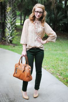 hunter green pants,