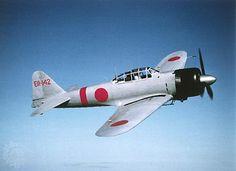 Mitsubishi A6M Zero fighter.