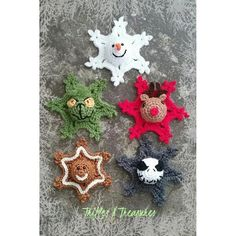Crochet Snowman, Crochet Ornaments, Crochet Snowflakes, Crochet Snowflake Pattern, Easy Crochet Projects, Crochet Patterns For Beginners, Easy Crochet Patterns, Free Christmas Crochet Patterns, Knitting Patterns