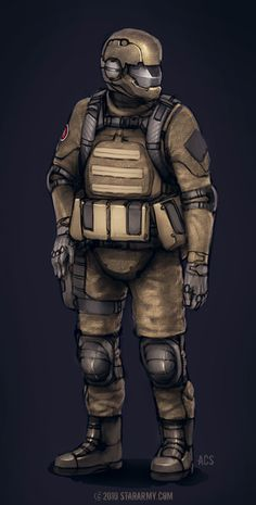 Commission - Star Army Soldier by =Shimmering-Sword on deviantART
