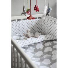 Protector de cuna de lunares gris : Baby-Deco