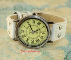 Roman dial leisure fashion watch retro nostalgic by Godisgirl, $7.99
