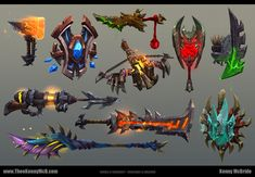 WoW: WoD - Some Weapons, Kenny McBride on ArtStation at https://www.artstation.com/artwork/wow-wod-some-weapons