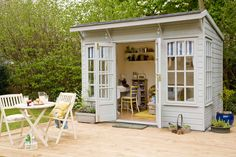 Ideas Garden Shed Office Workshop Outdoor Office, Backyard Office, Backyard Studio, Garden Office, Outdoor Rooms, Outdoor Living, Backyard Ideas, Backyard Retreat, Modern Backyard