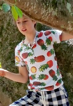 Boy's Henley Short Sleeve T-shirt - Pineapples Pineapple Print, Coastal Style, Boy Shorts, Men Casual, Boys, Mens Tops, T Shirt, Shopping, Clothes