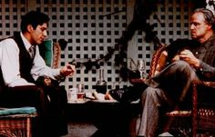 Le Parrain : Photo Al Pacino, Marlon Brando Al Pacino, Marlon Brando, Godfather Movie, Francis Ford Coppola, Hits Movie, Great Movies, Amazing Movies, Photos Du, Case Study