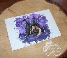 Bat Daily Creature Mini Print by NadilynBeatosArt on Etsy, $10.00