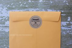 Photography client photo order idea!  Sealed with a stamped kraft sticker by Corina Nielsen!
