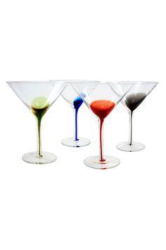 Decorated Martini Glasses