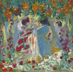 Femme sous les orangers, Pedro Blanes Viale. Uruguayan (1879 - 1926)