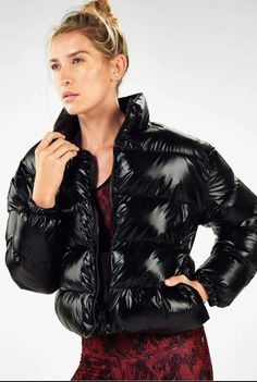 Puffer Jackets, Winter Jackets, Long Torso, Down Coat, M Color, Athletic Wear, Cool Girl, Jackets For Women, Leather Jacket