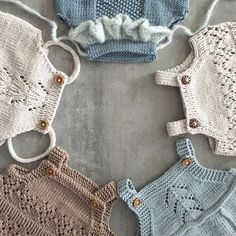 | Rompers - my favourite |  #knitting #knitting_inspire #knitting_inspiration #dalelerke #houseofyarn_norway