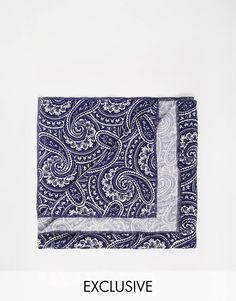 Image 1 of Reclaimed Vintage Paisley Pocket Square