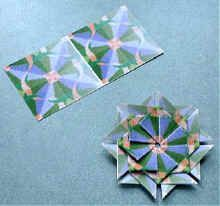 Teabag Folding Instructions using one of the designs in our Teabag Folding Set.    You will need to cut and fold 8 paper squares to make this rosette.