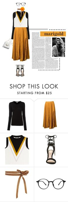 """""""Marigold"""" by loveyourselves ❤ liked on Polyvore featuring James Perse, Kaelen, Giambattista Valli, ALDO and marigold"""