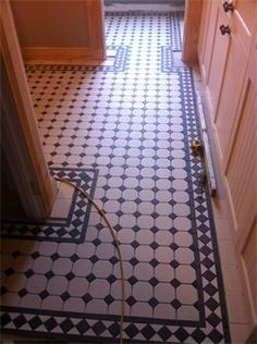 Bathroom renovation in Alexandra using tessellated tiles, each tile individually laid.