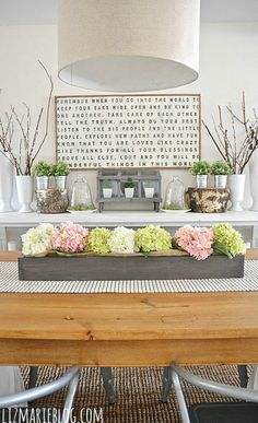 Spring Dining Room Table DecorDining
