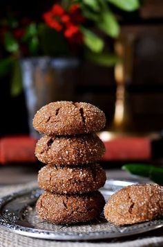 Chewy Molasses Cookies. #food