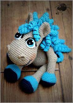 Cute little crochet horse