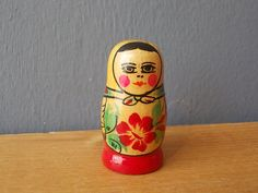 Vintage Matryeshka / Miniature Doll / Russian Barby / by EUvintage