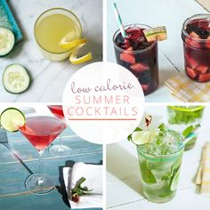 8 Tasty Low-Calorie Cocktails | @Christina & Whitehead