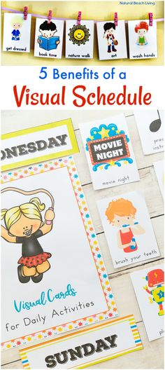 5 Benefits of Visual Schedules, The Ultimate Daily Visual Schedule Bundle, Picture Cards, Autism, Routine, Visual Schedule Printables for the whole year