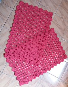 Crochet Placemat Patterns, Crochet Doilies, Cotton Baby Blankets, Baby Girl Blankets, Crochet Carpet, Crochet Home, Home Crafts, Diy And Crafts, Baby Afghans