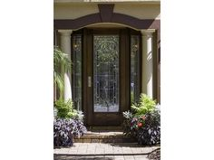 Traditional Glass Front Door - Olde Naples, Florida.  See similar homes at the link above.