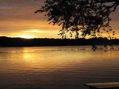 Sunset over Lake Leelanau Michigan