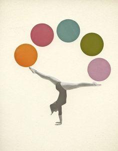 'Gymnastics' Case/Skin for Samsung Galaxy by Cassia Beck Portrait Wall, Pop Art Portraits, Wassily Kandinsky, Art Du Cirque, Circus Art, Sports Art, Illustrations, Yoga, Female Portrait