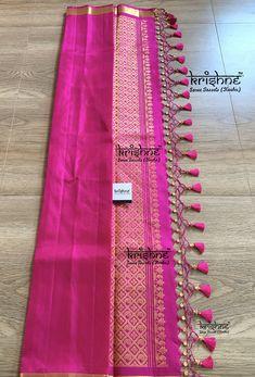 Saree Kuchu New Designs, Saree Tassels Designs, Pattu Saree Blouse Designs, Dress Designs, Silk Saree Banarasi, Simple Blouse Designs, Bridal Silk Saree, Designer Silk Sarees, Beadwork Designs