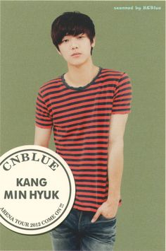 Kang Min Hyuk is a South Korean drummer, actor and singer. His name is also written as MinHyuk, Min Hyuk. He is the drummer of South Korean rock band CN Blue.