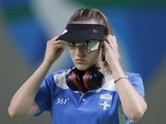 Anna Korakaki of Greece, prepares to compete during the women's pistol gold medal match at the Olympic Shooting Center at the 2016 Summer Olympics in Rio de Janeiro, Brazil, Tuesday, Aug. Olympic Shooting, Olympic Gold Medals, Summer Olympics, Athlete, Greek, War, Brazil, Tuesday, Anna
