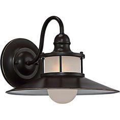 """Quoizel New England 11 1/4"""" High Bronze Outdoor Wall Light"""
