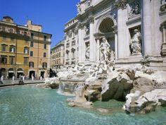 Baroque Style, Trevi Fountain (Fontana di Trevi), Rome, Lazio, Italy, Europe