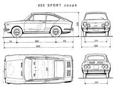 Resultado de imagem para fiat 850 coupe illustration