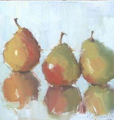 Pears Three by Nancy Franke Oil ~ 10 x 10
