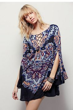 Free People Eastern Lights Printed Dress at Free People Clothing Boutique