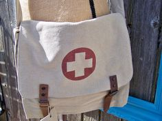 Khaki Vintage Military Inspired Canvas Medic by CopperSkyRanch, $34.00