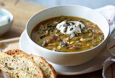 Easy Lamb Dishes - Lamb and lentil soup Lamb Dishes, Lentil Soup, Welsh, Lentils, Soup Recipes, Chili, Soups, Cooking, Food