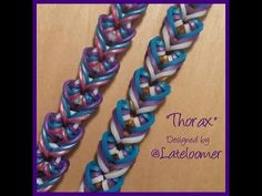 """New """"Thorax"""" Hook Only Rainbow Loom Bracelet/How To Tutorial - YouTube"""