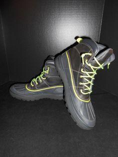 Nike Woodside II Hiking Boots Black Green 525393-013 Size 12 #Nike #HikingTrail