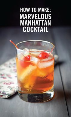 What could be a better way to up your entertaining game than with a classic cocktail? This Marvelous Manhattan Cocktail features all the traditional flavors you'll love serving to your party guests. Just don't forget the maraschino cherry garnish.